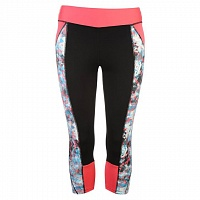 USA Pro Three Quarter Leggings black/bright